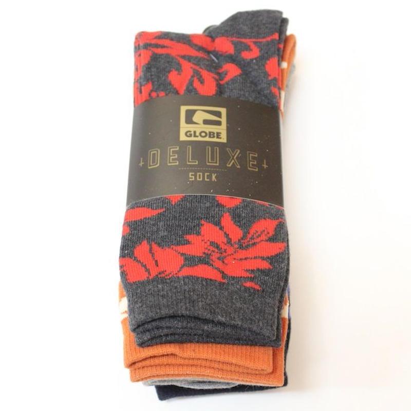 GLOBE FLOWER 3P SOCKS