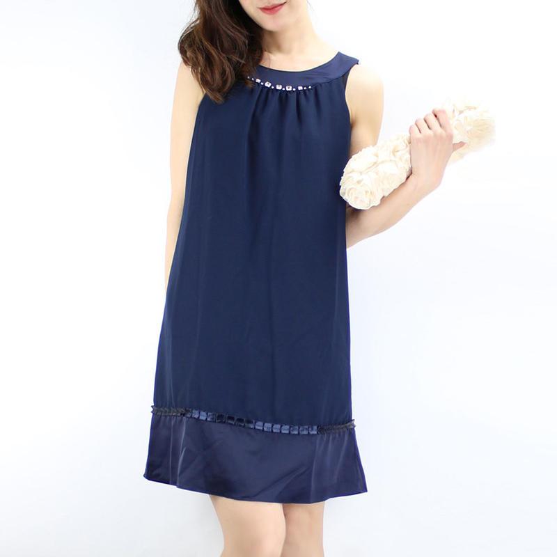 【アウトレット】ビジューバックリボンドレス_0110991