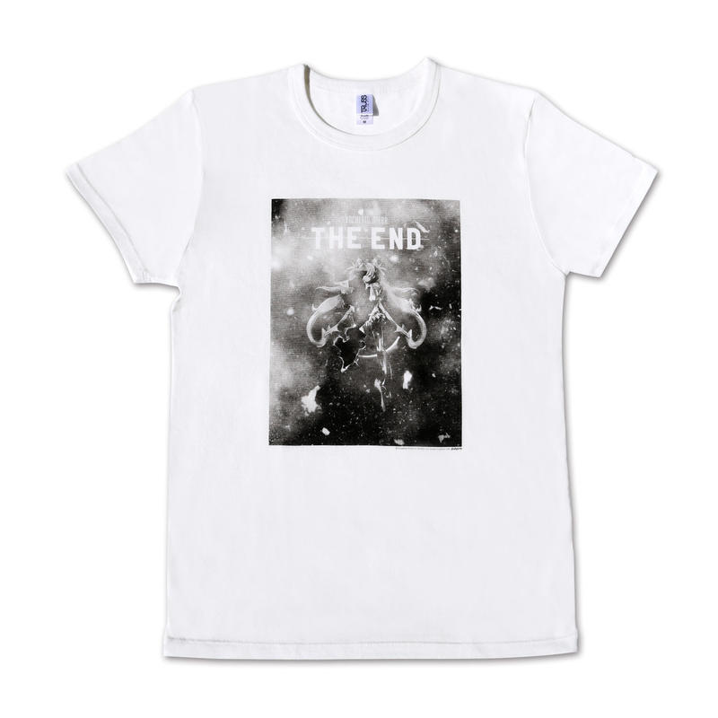 『THE END』初音ミク Tシャツ WHITE