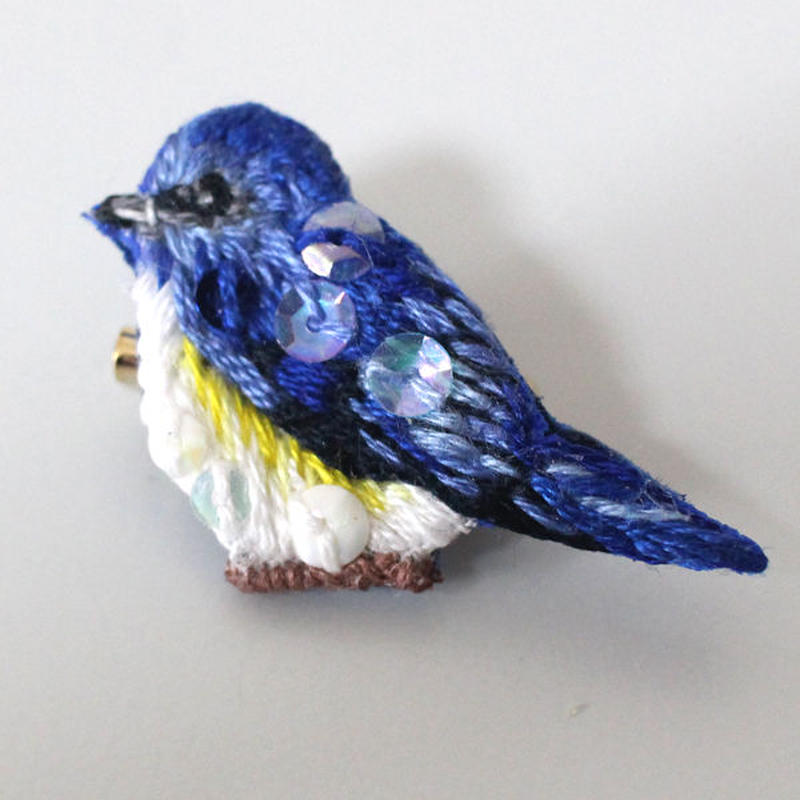 2019SS限定デザイン 青い鳥さんブローチ