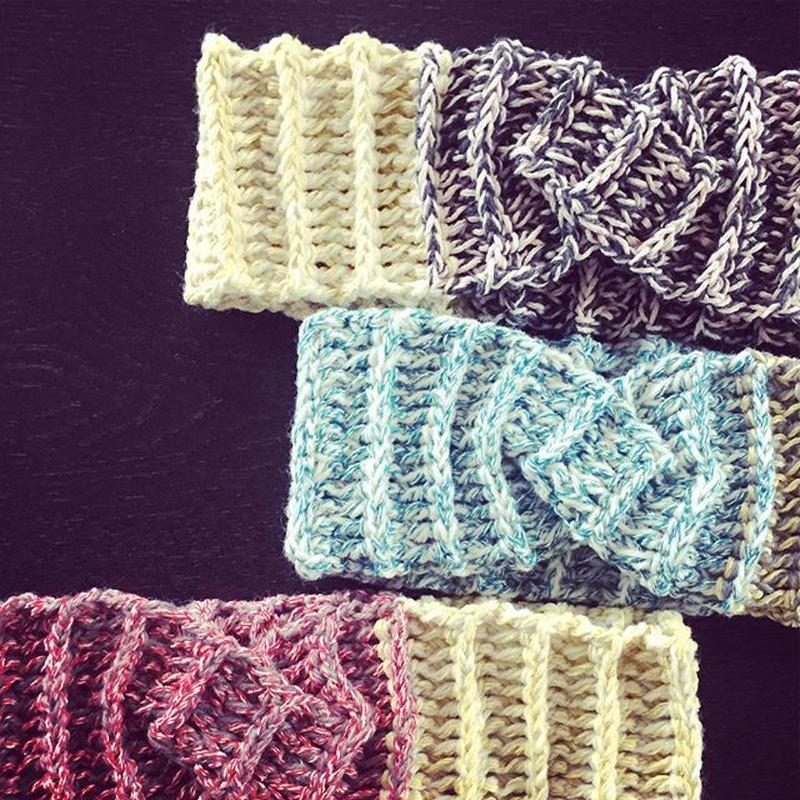 送料込み ひねり模様のヘアバンド -印刷済み編み図のみ-