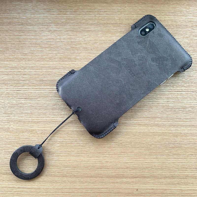 【iPhone XS Max】シンプルジャケット/ガンメタ迷彩