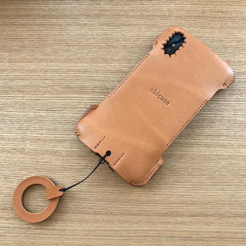【iPhone XS】 Wフェイスジャケット/飴色☓迷彩