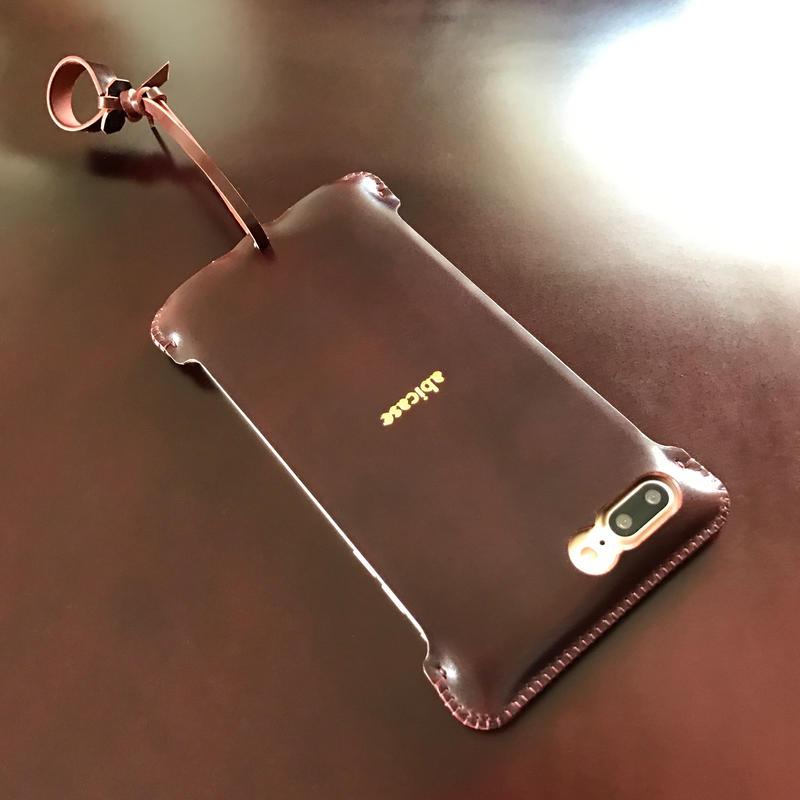 予約受付【バーガンディコードバン】iPhone7 Plus sj  シンプルジャケット