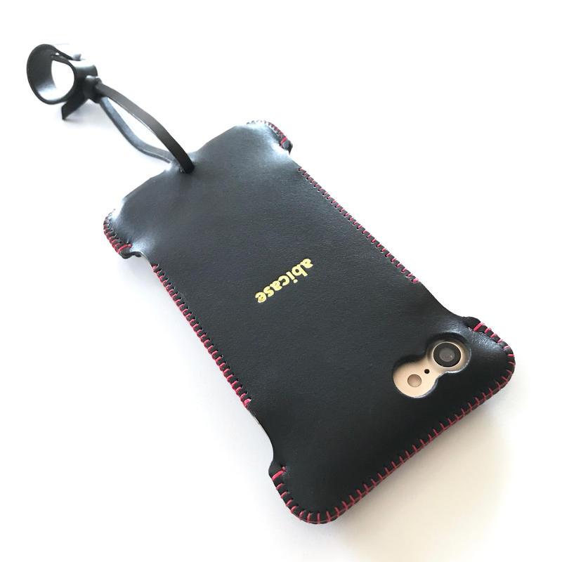 【abicasePro】 iPhone7 nswj イタリアンレザー/クロ