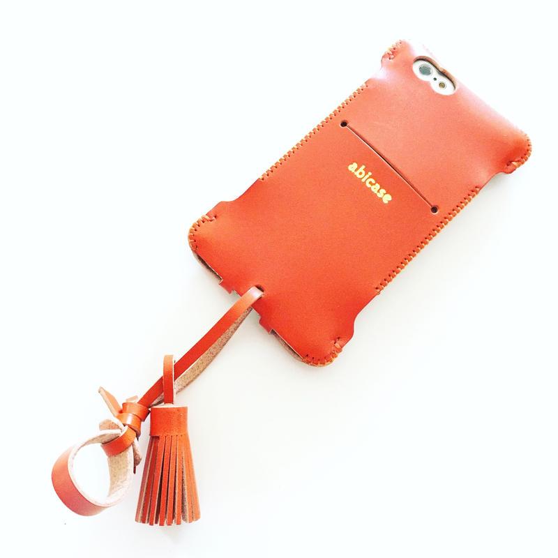 【1点限定セール】iPhone 6s cwj ウォレットジャケット/フルオレンジ
