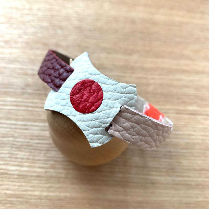 【1点モノ】abicaseDogCollar/aiboの首輪/日の丸クレイジーカラーA