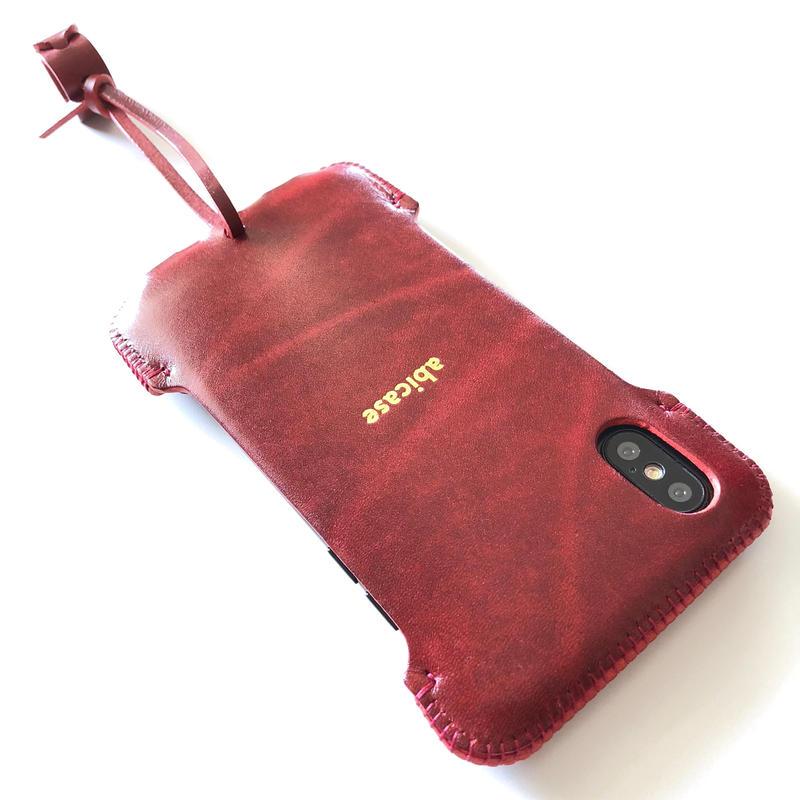 1点在庫あります【ルガトレッド】abicaseXSJ/iPhoneX用シンプルジャケット