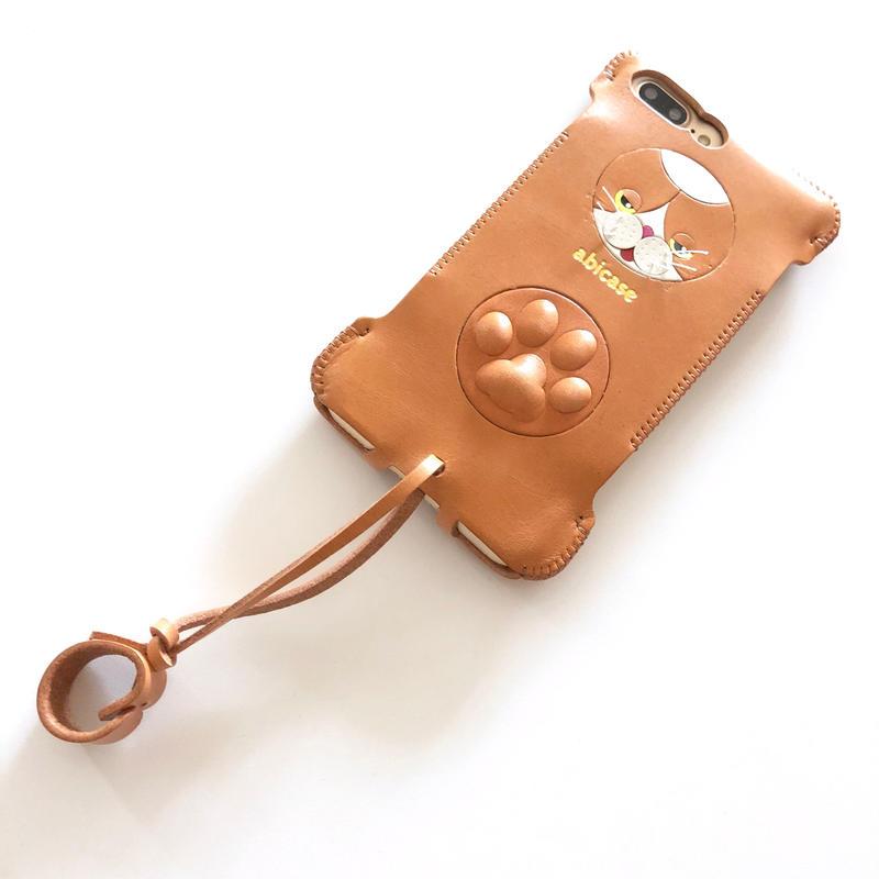 【サンプル1点物】abicase8Plus猫/iPhone8Plus用