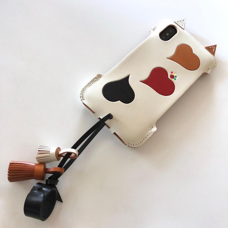 【予約受付】abicaseXSJCAT/iPhoneX用シンプルジャケット猫/三毛