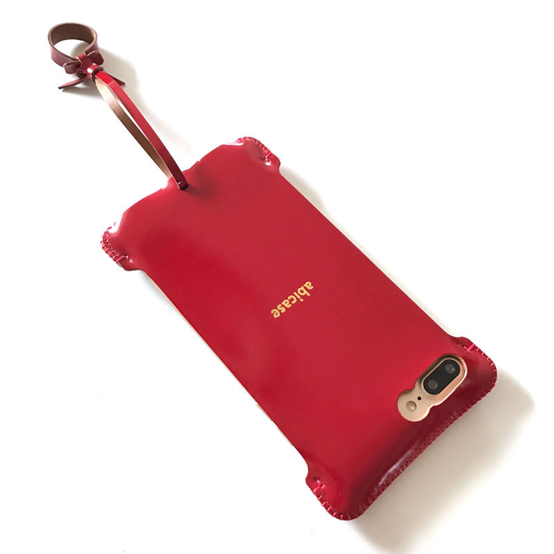 限定品【abicasePro】iPhone7Plus sj カーマインレッドコードバン