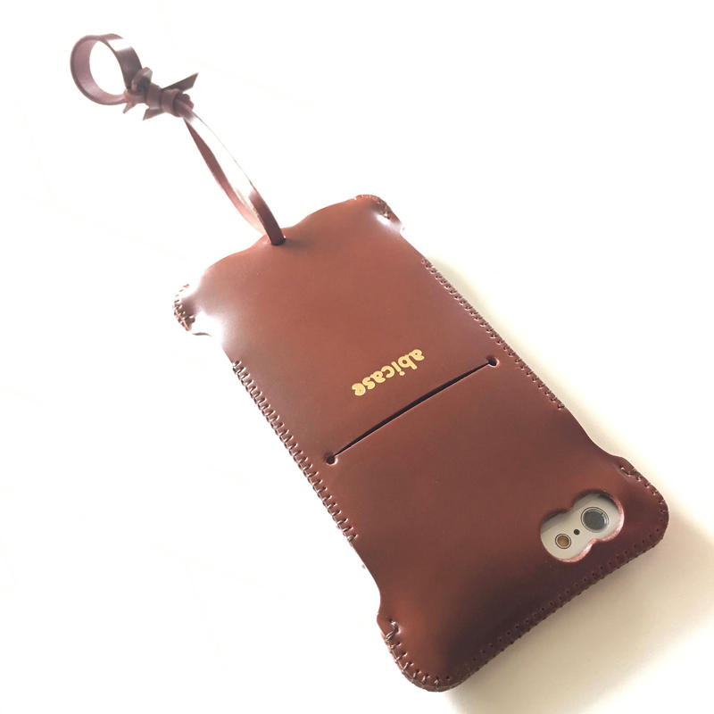 【赤茶コードバン製】iPhone 6s cwj cordovan ウォレットジャケット