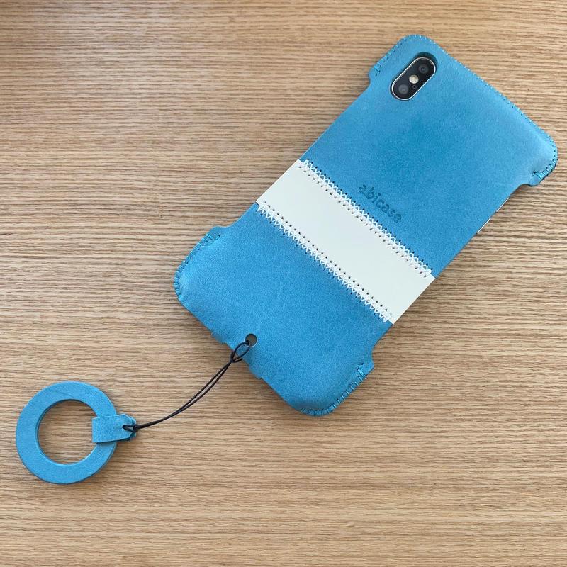 1点物【iPhone XS Max】スカイブルーのシンプルジャケット
