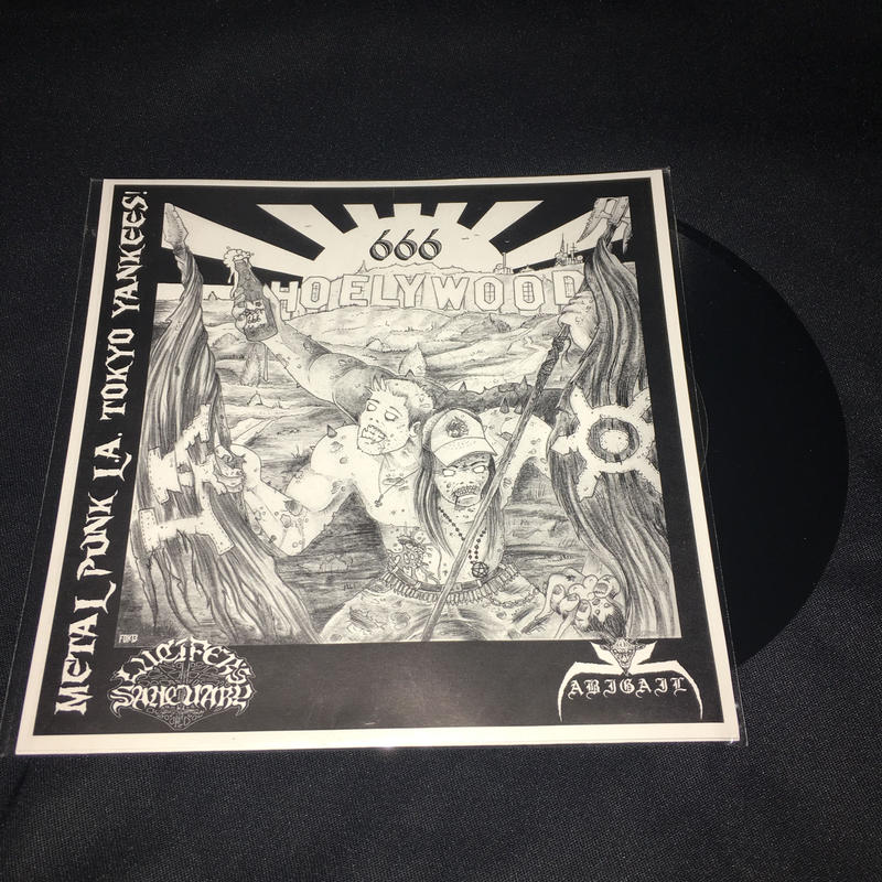 Abigail Split 7'ep with Lucifer's Sanctuary Black vinyl