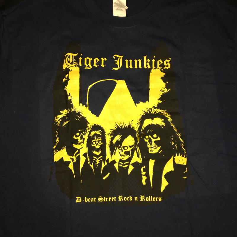 "Tiger Junkies ""D-beat street rock'n rollers"" T shirt"