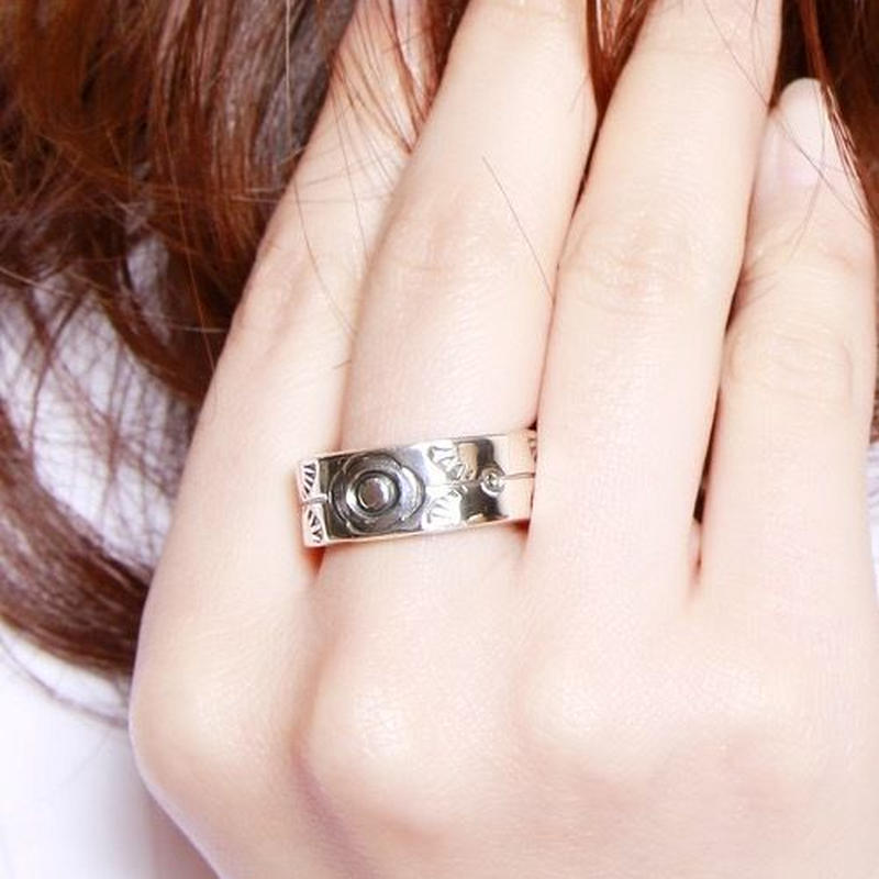 NORTH WORKS 900Silver Stamp Ring W-022