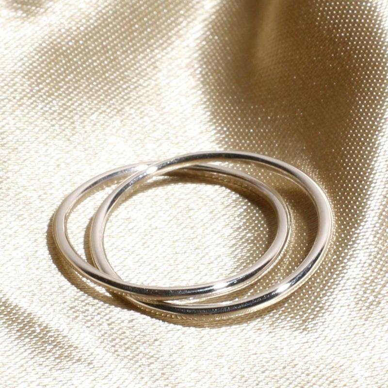Losau / Double line ring / lo-r009-silver