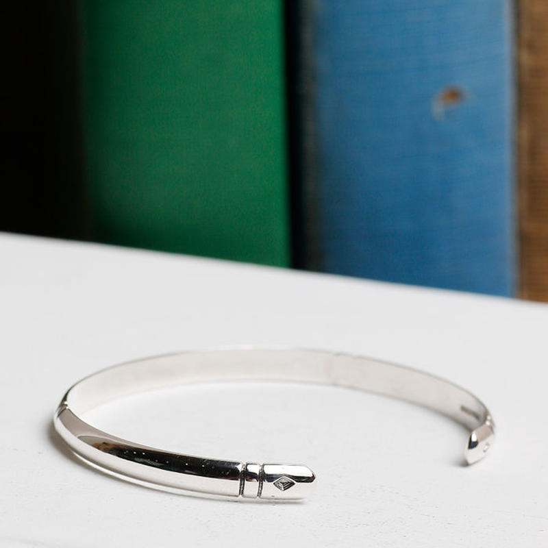 NORTH WORKS 900silver Stamped bangle W-304