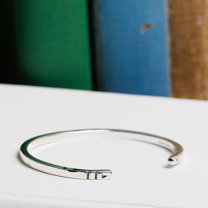 NORTH WORKS 900silver Stamped bangle W-302