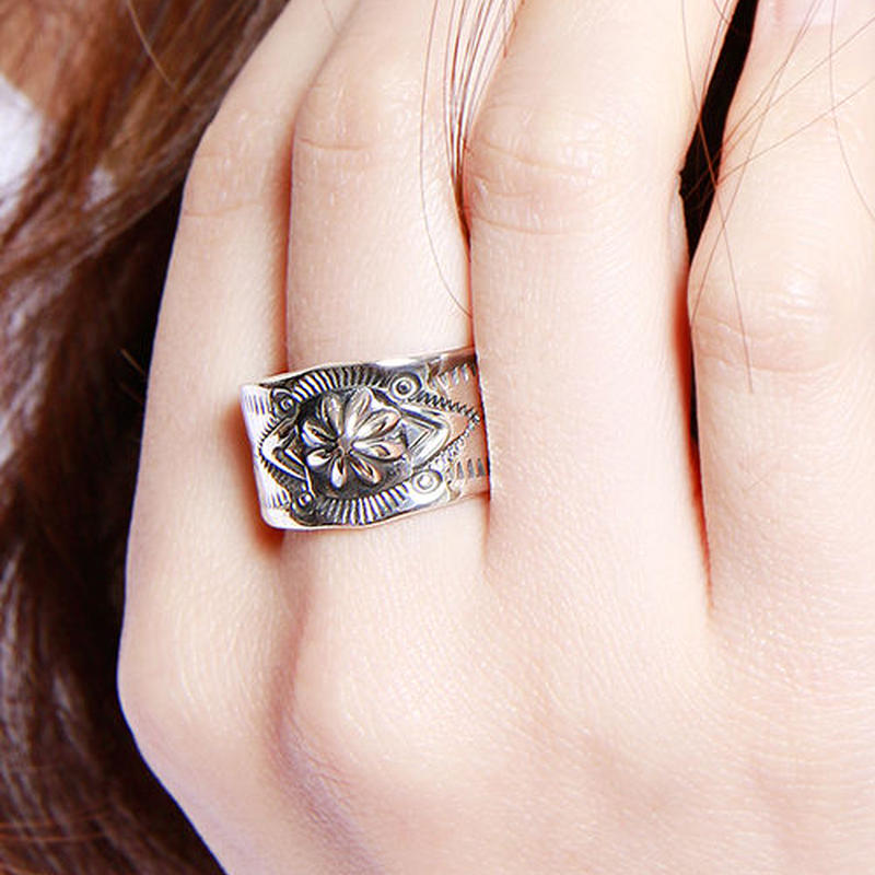 NORTH WORKS 900Silver Stamp Ring 3 W-021