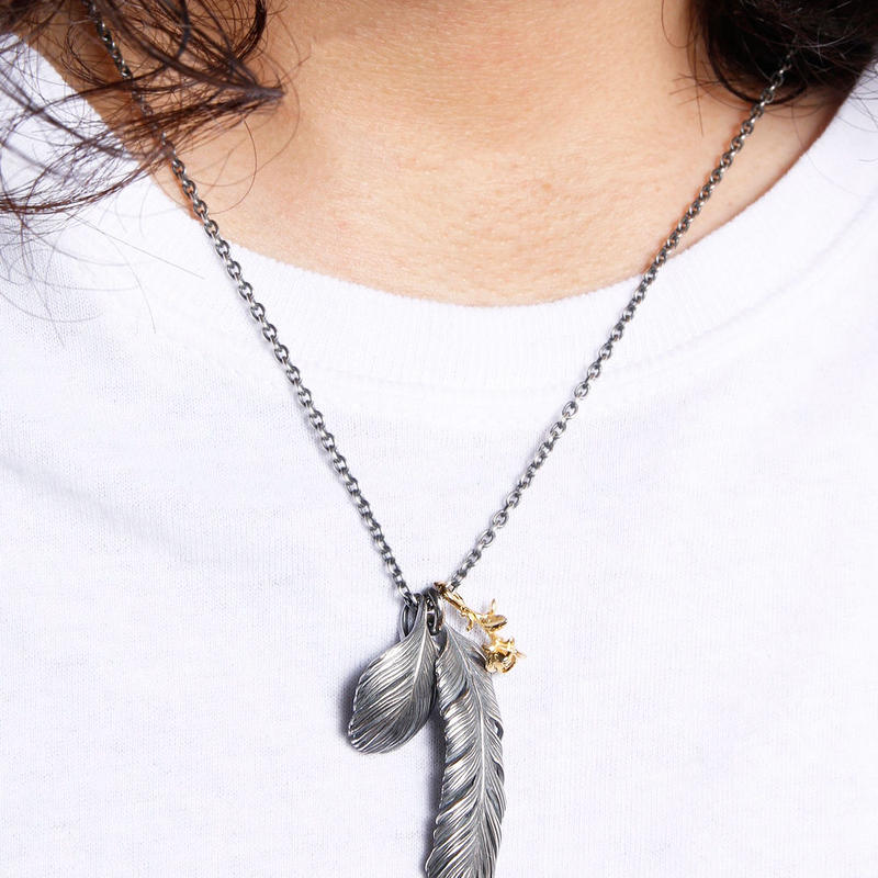 HARIM Leef Feather with Golden rose HRP021rose