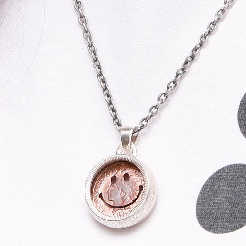 NORTH WORKS PENNY SMILE 25cent TAMB OURINE PENDANT N-249
