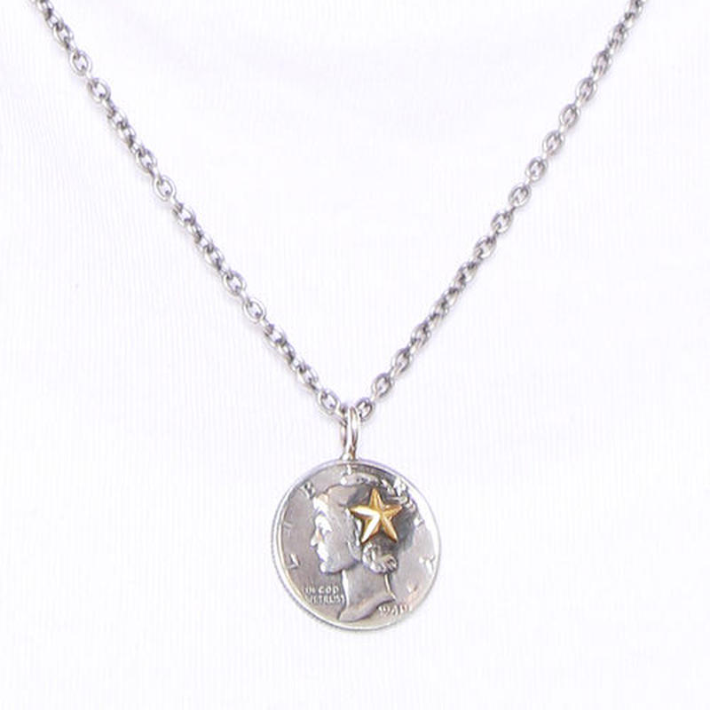 NORTH WORKS 10cent BRASS STAR PENDANT N-301