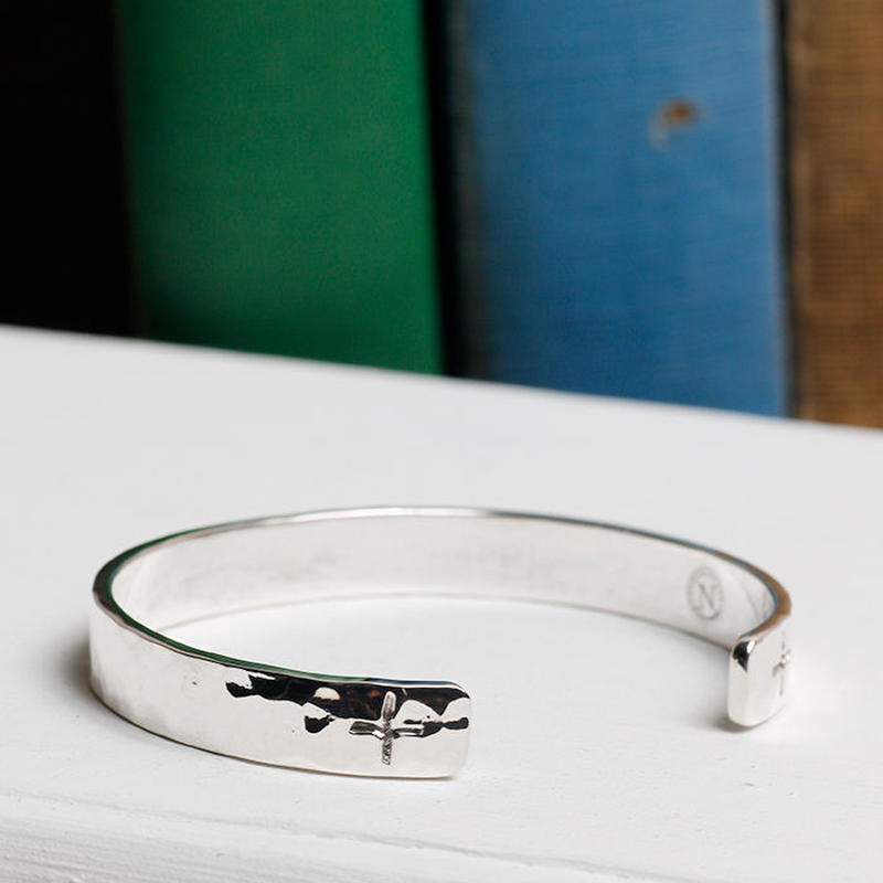 NORTH WORKS 900silver Stamped bangle W-303