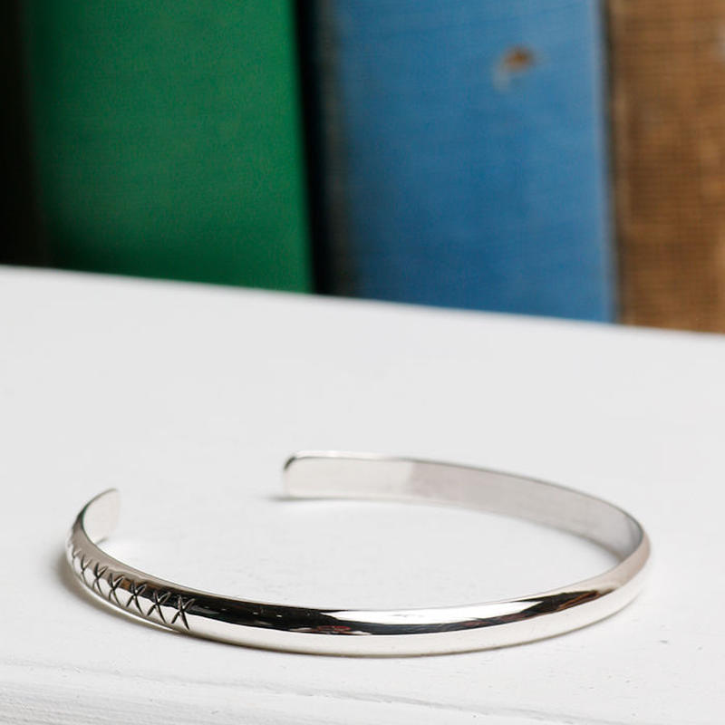 NORTH WORKS 900silver Stamped bangle W-305
