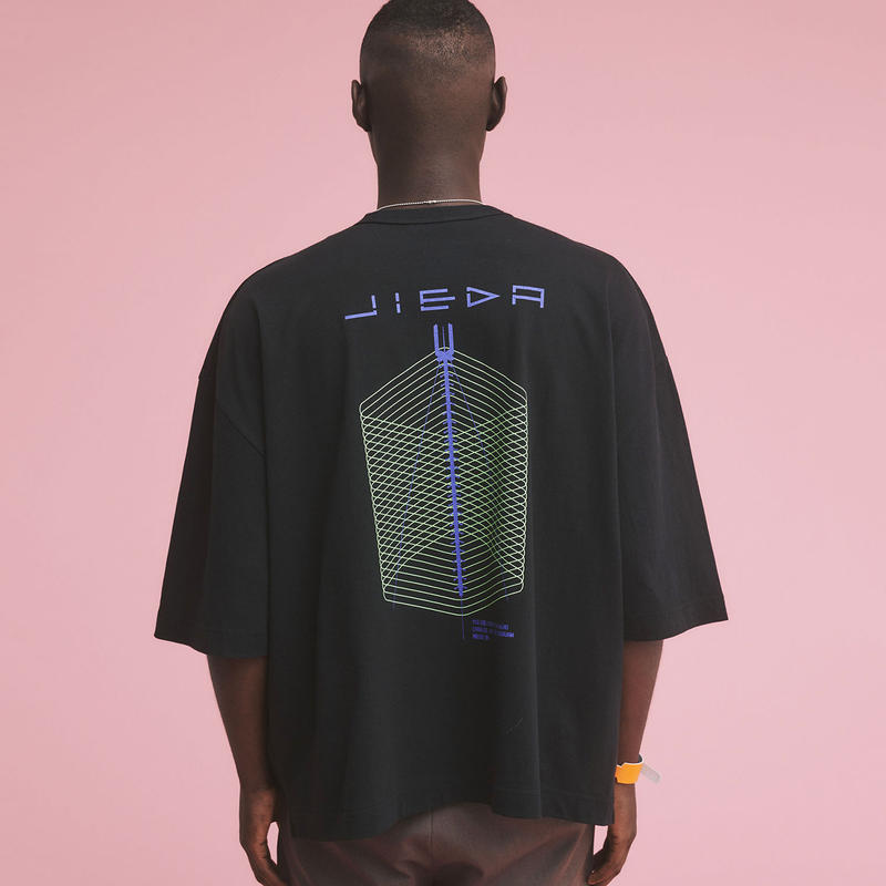 JieDa ジエダ / GEOMETRIC BIG PRINT T-SHIRT ジオメトリックビッグプリントTシャツ / Jie-20S-CT06