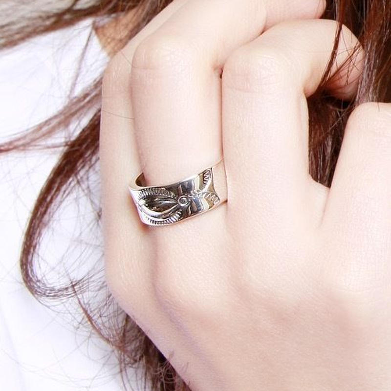 NORTH WORKS 900Silver Stamp Ring 4 W-023