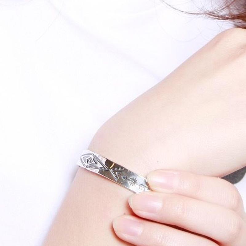 NORTH WORKS Stamped 900Silver Cuff Bracelet S3 W-009