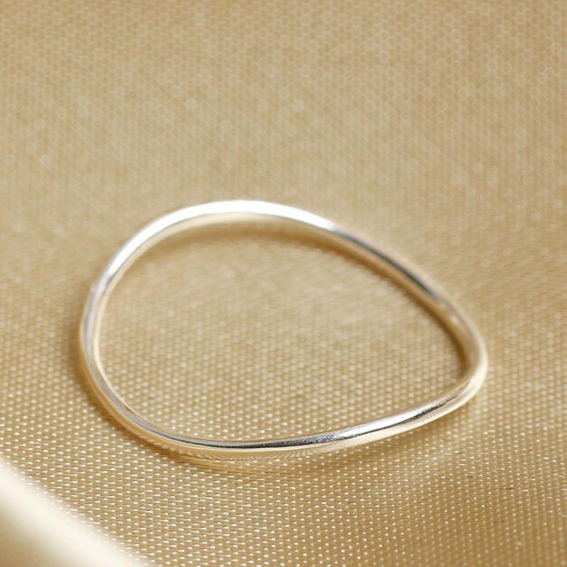Losau / curve ring / lo-r004-silver-925