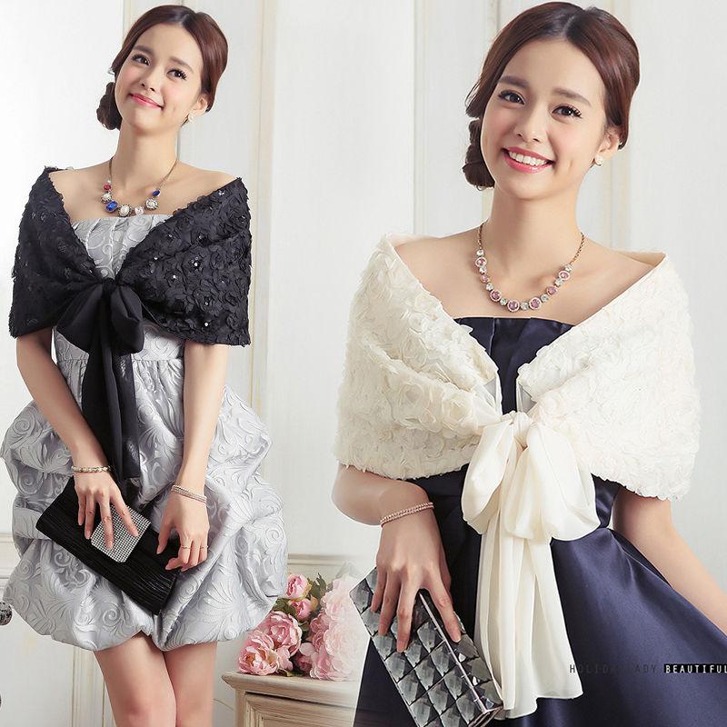 パーティーショール パーティーストール ケープ 結婚式 お呼ばれ 二次会 ドレス 韓国 ファッション X3005
