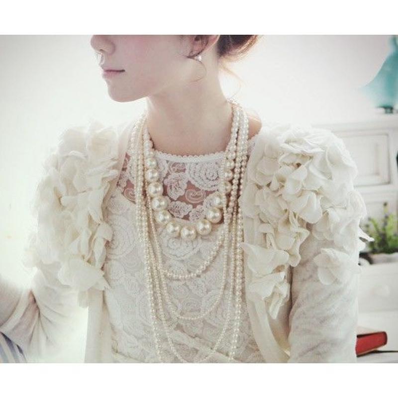 【お取り寄せ商品】パールネックレス パーティードレス フォーマル ワンピース 結婚式 卒業式 入学式 お呼ばれ 韓国 ファッション X3001