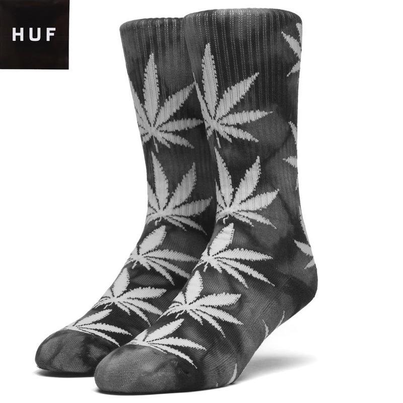 HUF 【ハフ】 ソックス 靴下 ハイソックス リーフ柄 葉っぱ 総柄 CRYSTAL WASH PLANTLIFE SOCKS