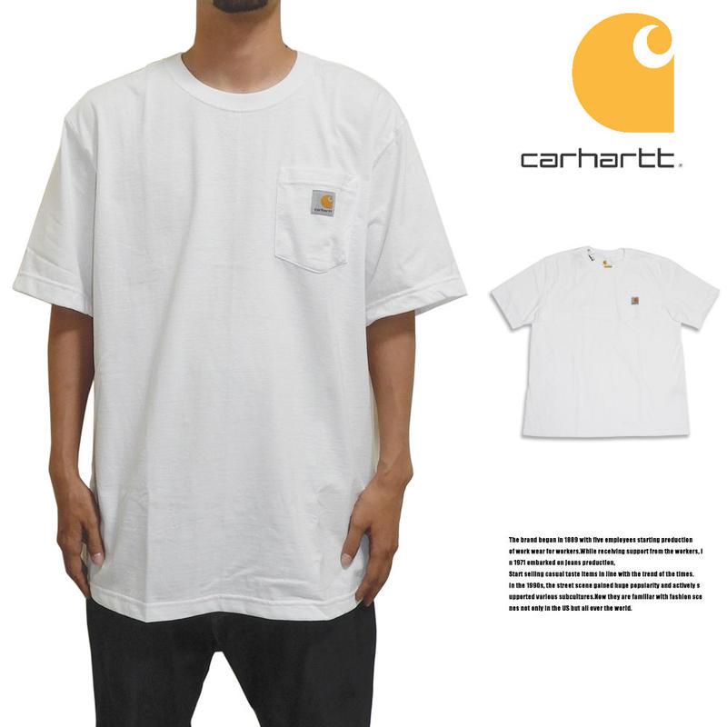 CARHARTT カーハート ポケットTシャツ US規格 K87 ホワイト