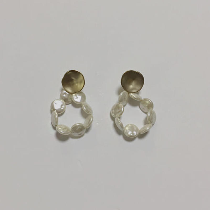 shell drops pierced earrings