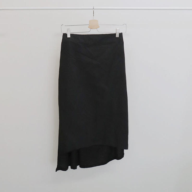 [ sample SALE ] two fabrics asymmetry skirt