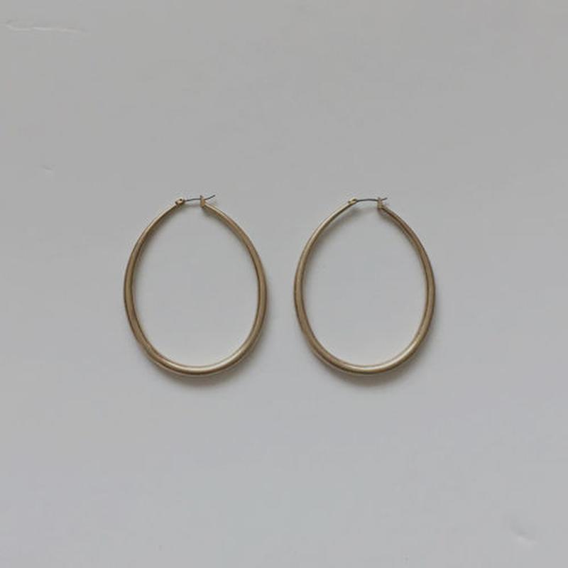 orb hoop piereced earrings