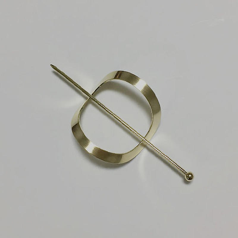 oval hair stick