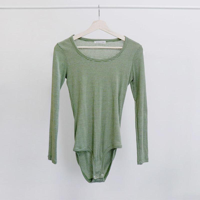 [ sample SALE ] bodysuit border cut&sew