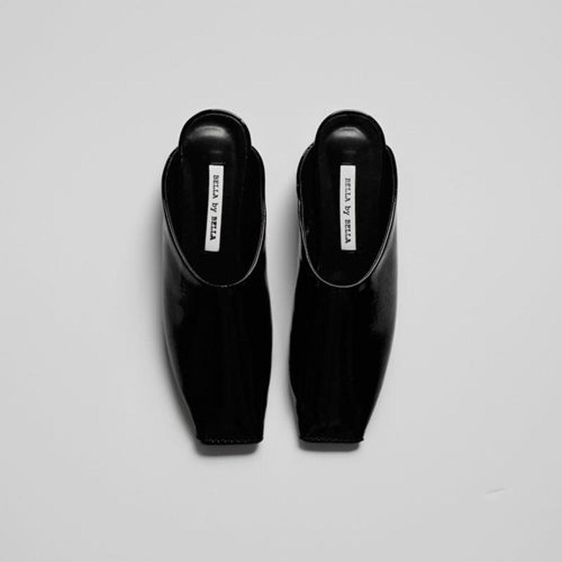 square toe autumn slippers