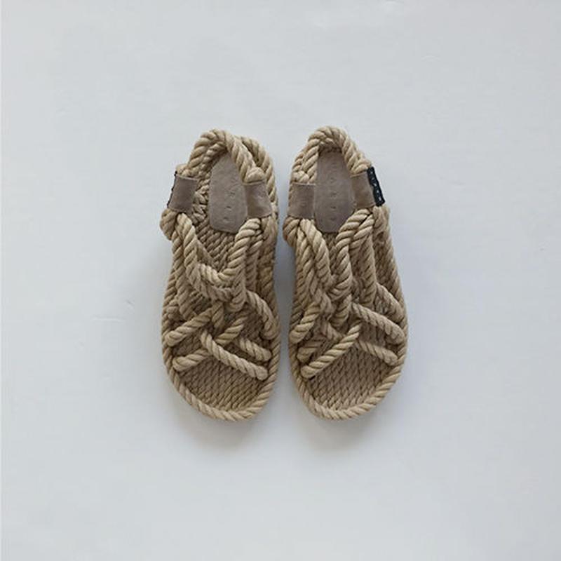comfort straw strap sandal