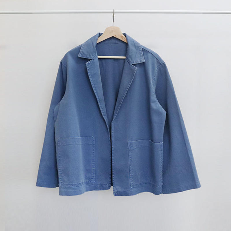 [ sample SALE ] cotton canvus opened jacket