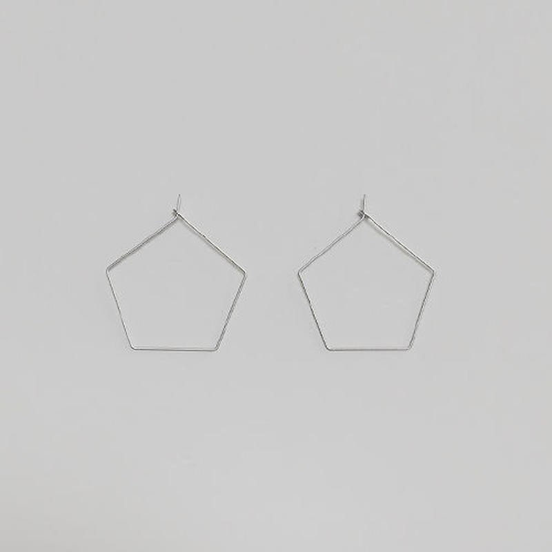 pentagon wire pierced earrings