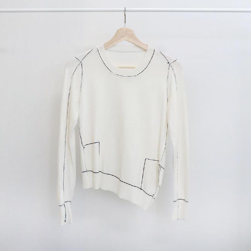 [ sample SALE ] stitch pointed asymmetry kint