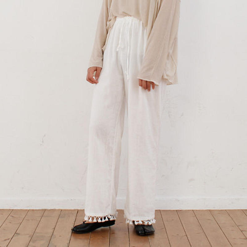 jacquard cotton night pants