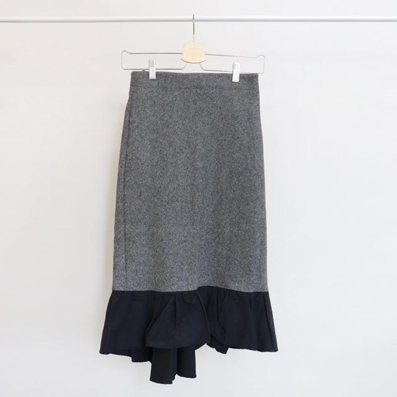 [ sample SALE ] hem frill wool skirt