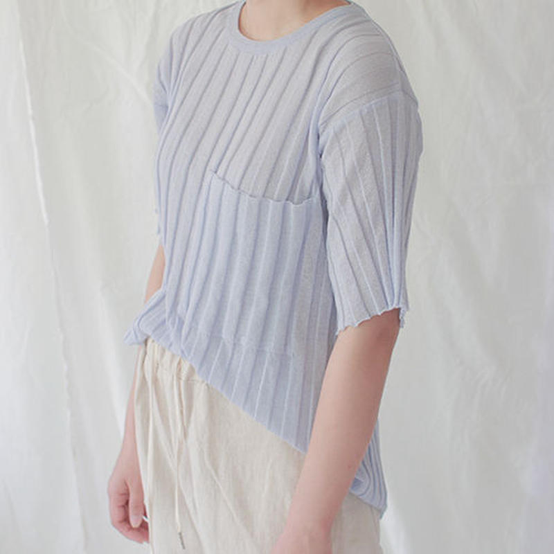 -3 colors- bold rib knit tee
